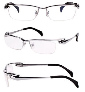 761e45f226ad Image is loading Pure-Titanium-Mens-Half-Rim-Bussiness-Eyeglasses-Frames-
