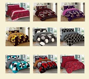 3-Piece-Reversible-Warm-Flannel-Plush-Sherpa-Borrego-Blanket-King-Size-7-lbs