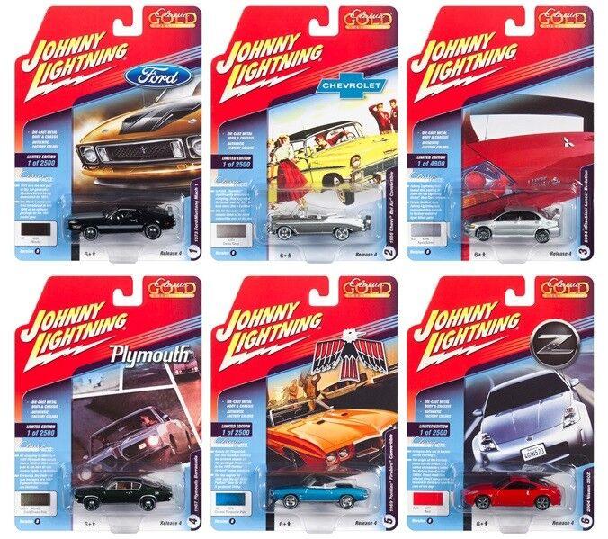 1 64 Johnny Lightning Classic gold 2018 Release 4 Version B 6 Cars Set JLCG016 B
