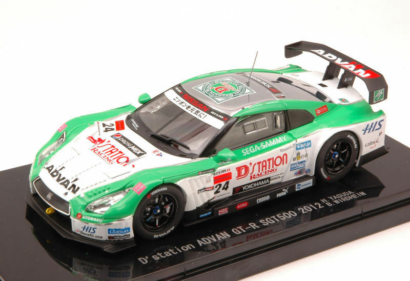 NISSAN GT-R ADVAN  24 sgt500 2012 Yoshihiro/viene domestica 1:43 MODEL 44734 ebbro