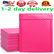 Poly Bubble Mailers 6x10 Inch Padded Envelope Self Seal Lined Wrap Pink 50 Pack