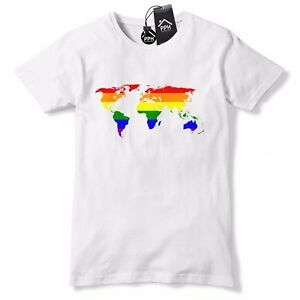 256fdd66d World Map Love Is Love Gay Pride T Shirt LGBT Lesbian Bi Trans ...