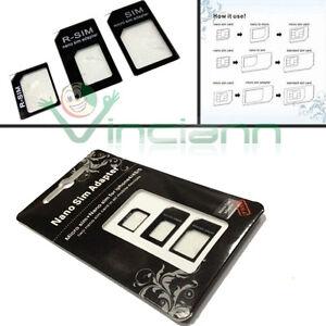 KIT 3in1 Scheda Adattatore Nano Micro SIM iPhone 6 6S nanosim convertitore card