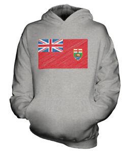 MANITOBA-KRITZELTE-FLAGGE-KINDER-KAPUZENPULLOVER-HOODIE-JUNGEN-MADCHEN-KLEINKIND