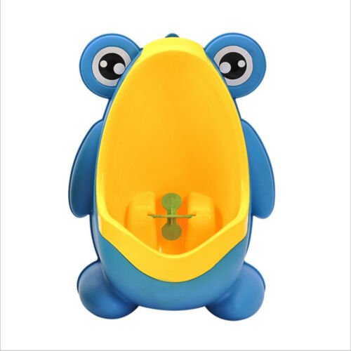 Toddler Boy Kid Toilet Frog Potty Urinal Stand Up Pee Training-Blue