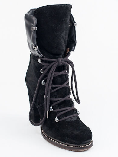 New  Moncler Black Suede Suede Suede Fashion Booties Size 35  US 5 e573a5