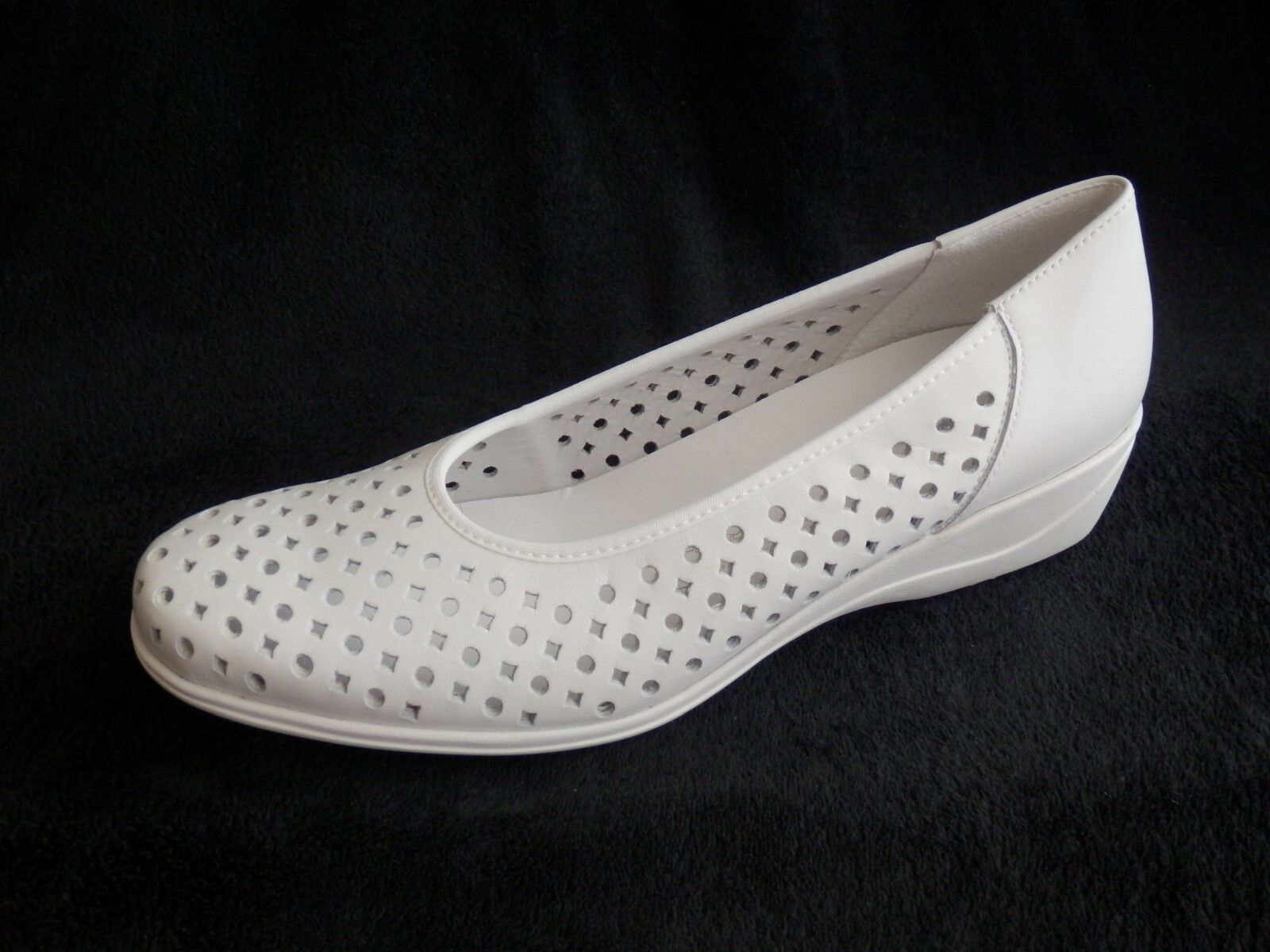 Jolie Madame pumps Slipper blanco bailarina ancho blanco Slipper h 4912bf
