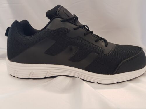 MENS CUSHIONED  lightweight STEEL TOE CAP SAFETY TRAINER SHOES WORK SIZE 8