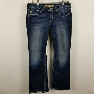 2c0131373a0 Big Star Remy Low Rise Fit Boot Cut Womens Dark Wash Blue Jeans Size ...