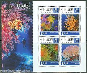 SOLOMON-ISLANDS-2014-CORALS-SHEET-MINT-NH