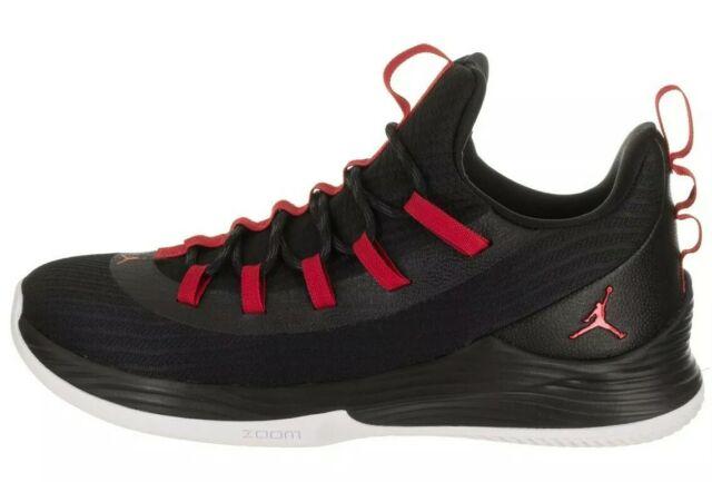 huge discount 010fc 52454 Jordan Ultra Fly 2 Low Men Basketball Shoes Black University Red Ah8110-001  11.5