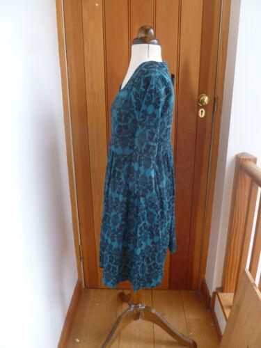 ATMOSPHERE PRIMARK TEAL BLACK GOTHIC PRINT SMOCK TUNIC DRESS 10 12 14 16 18 20