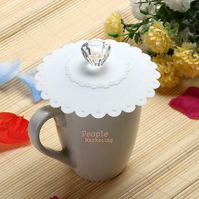 Silicone Diamond Butterfly Airtight Cup Lid Thermal Insulation Coffee Mug Cover