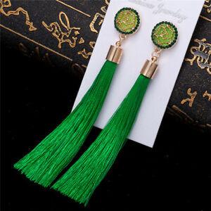 Crystal-Tassel-Earrings-Bohemian-Dangle-Fashion-Drop-Women-Long-Jewelry-Elegant