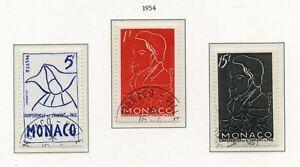 Strict Timbre De Monaco Oblitere N°399/401 Antoine Frederic Ozanam