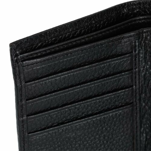 Mens Trifold Genuine Leather RFID Blocking Wallet Black New Mens Wallets