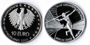 Deutschland-10-Euro-Leichtatletik-2009-ADFGFJ-komplett-pragefrisch