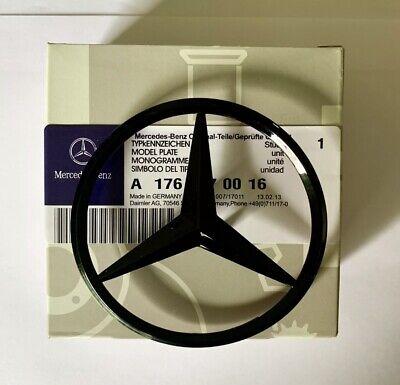 Mercedes-Benz A CLA Class Rear Boot lid badge STAR-Matte Black A1768170016