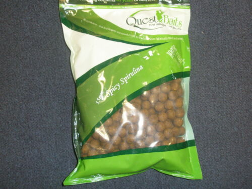 Quest Baits Spicy Spirulina 15mm Boilies 1kg Shelflife