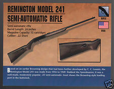 REMINGTON MODEL 241 SEMI-AUTOMATIC RIFLE .22 Gun Classic Firearms PHOTO CARD