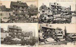 RENNES-35-ensemble-de-4-cartes-vues-du-Chateau-Branlant