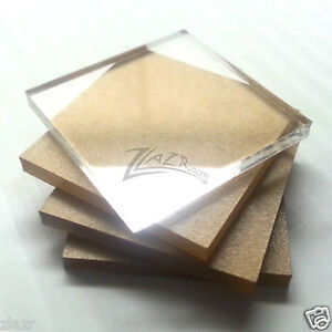 """100 1.5/""""x1.5/""""x1//8/"""" THICK Clear Acrylic Square Gem Mineral Coral Display Stand"""