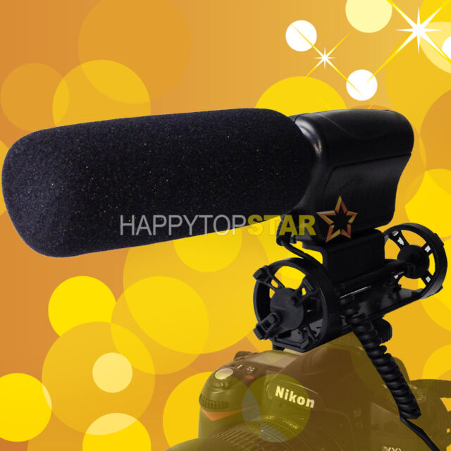 DIRECTIONAL Stereo Microphone for Canon EOS 7D 5Ds R 760D 750D 80D 760D