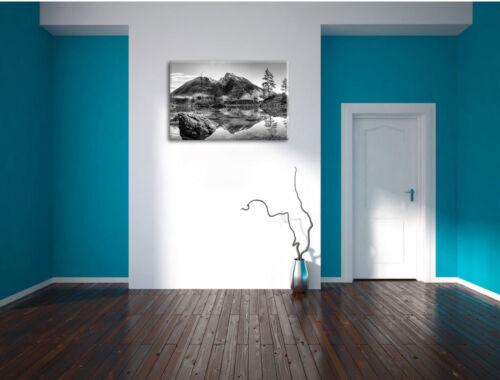 Sonnenaufgang am Hintersee Kunst B/&W Leinwandbild Wanddeko Kunstdruck