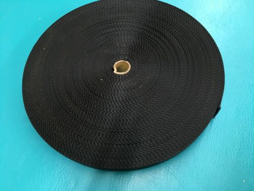 NEW 1 1//2 Inches Wide X 48 Yards Long Black Nylon Heavy Webbing Strap