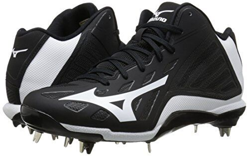 Men's Heist IQ Mid Baseball Cleats (Black, size 13)