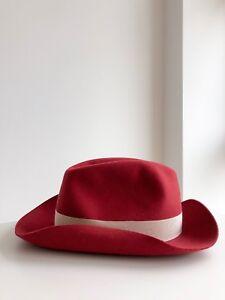 cc78a183de908e Image is loading Borsalino-Alessandria-medium-brim-felt-hat-in-Maroon