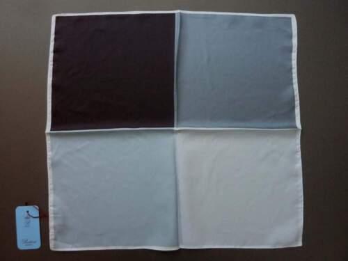 Black with grays Battisti Pocket Square SALE pure silk