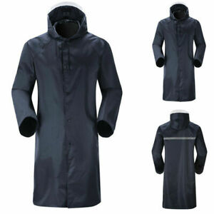Men-039-s-Waterproof-Raincoat-Lightweight-Casual-Hooded-Rain-Coat-Long-Jacket-Coat