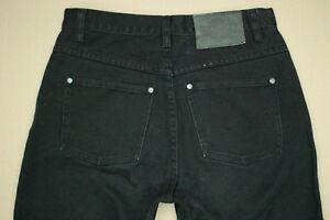 Harley-Davidson-Straight-Leg-Jeans-Women-039-s-Size-6-Flame-Leg-Black-Denim