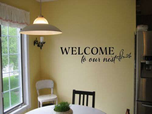 WELCOME TO OUR NEST LIVING ROOM DECOR VINYL WALL DECAL LETTERING HOME DECOR