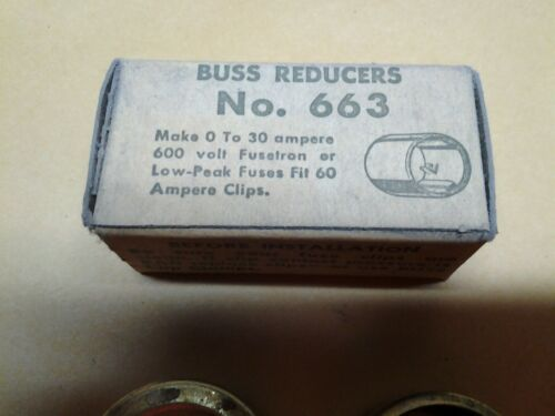 pairs Details about  /Bussmann No RD-1 663 Buss Reducers 60 To 30 Amps 600V 2