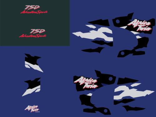 Africa twin 750 (1996 bleu) autocollant sticker decal aufkleber moto