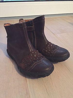 MOD8 Leder Schuhe, Stiefel, Prinzessin Stiefeletten, Braun, Gr. 27, TOP, wie NEU