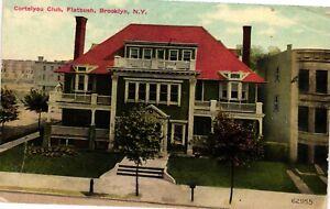 Vintage Postcard - 1912 Cortelyou Club Flatbush Brooklyn New York NY #4120
