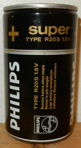 PHILIPS SUPER BATTERY BAVARIA Beer can from HOLLAND (33cl)  Empty !!