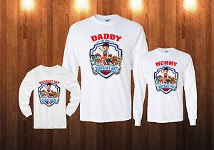 11918ae52 Image is loading Paw-Patrol-Birthday-Long-Sleeve-Shirt-Personalized-Custom-