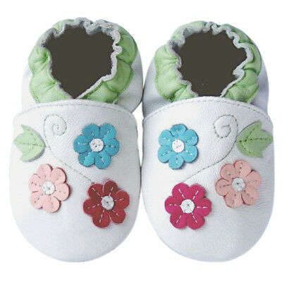 Free Shipping Littleoneshoes Soft Sole Baby Shoes Infant Flower Green 24-30M