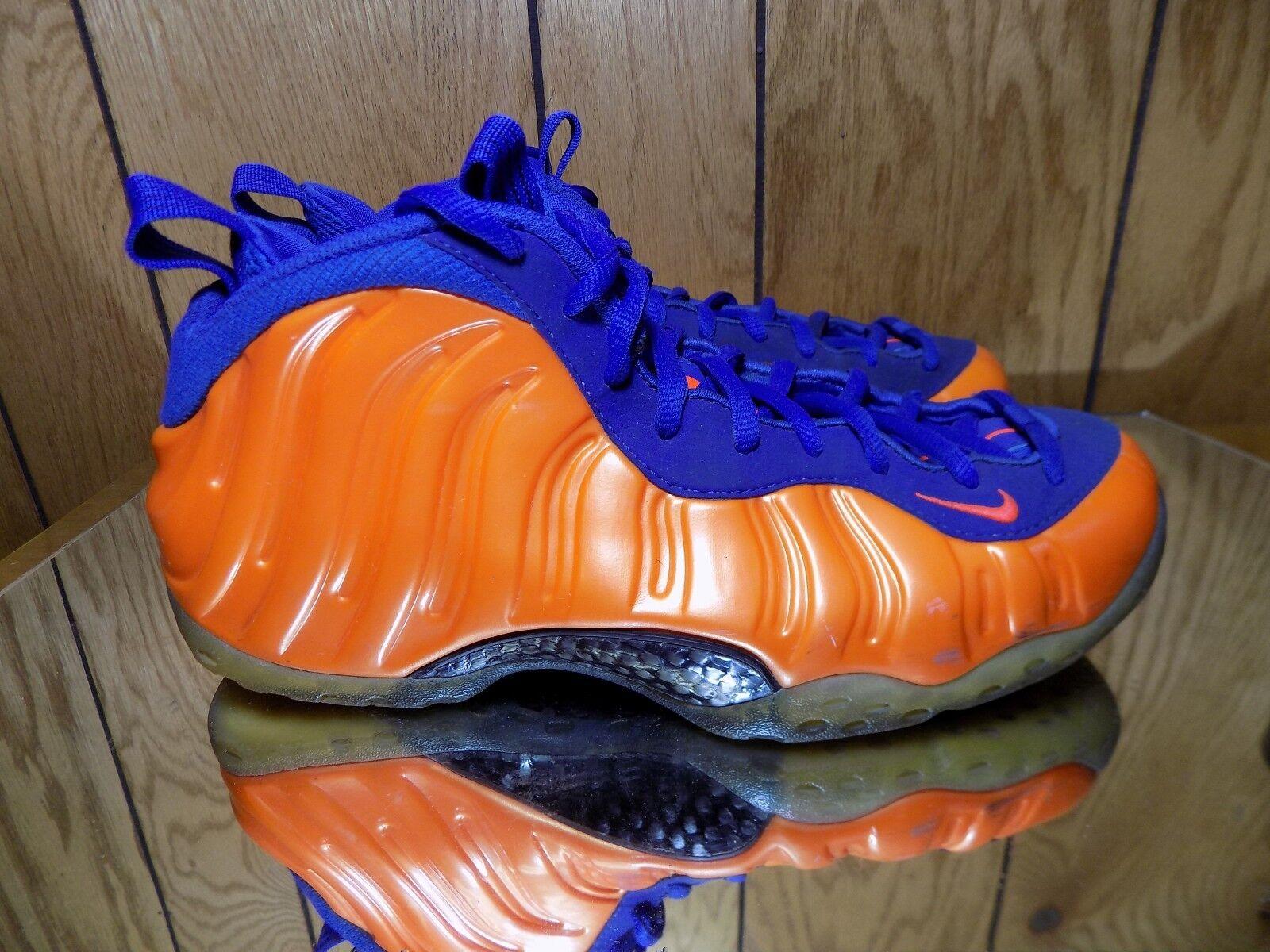 Nike Mens Air Foamposite One 314996-801 bluee orange New York Size 9