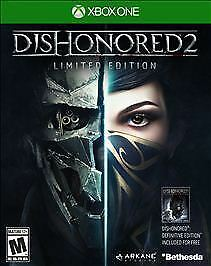 Xbox One Dishonored 2 Limited Edition Video Game with original case