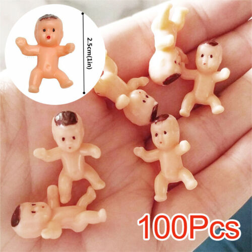 """UK 100pcs 1/"""" Mini Plastic Baby Favor Supplies For Baby Shower and Ice Cube Game"""