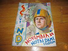 RARE VINT NOVEMBER 25 1939 USC VS NOTRE DAME FOOTBALL PROGRAM NOTRE DAME STADIUM