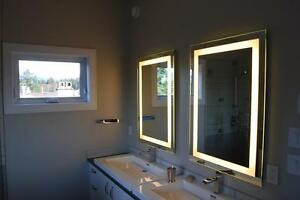 LED-Lighted-Bathroom-Mirror-Vanity-30-In-x-24-In-Dimmable-w-Touch-Button-New