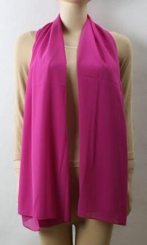 NEU Chiffon Schal seidig /& elegant 20 Unifarben Farben Gross Schal Stola Tuch