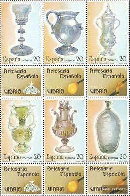 Postfrisch 1988 Kunsthandwerk kompl.ausg. Ehrlich Spanien 2820-2825 Zwölferblock