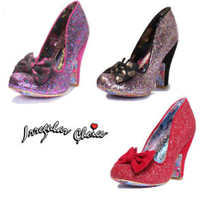 d8b0f4dc7699 Irregular Choice Nick Of Time Womens Glitter Red Court Shoes UK Size ...